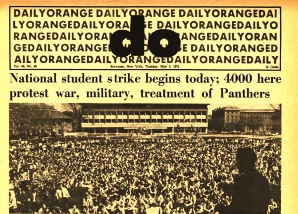 Daily Orange - Day after Kent State Shootings