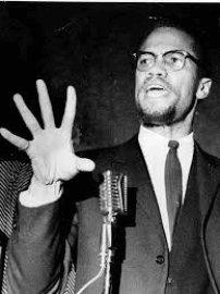 Malcolm X speaking in Corn Hill in 1965 (Democrat and Chronicle file photo)