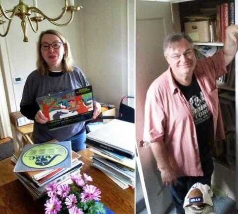 Joan Nyffeler and Tom Kohn of Bop Shop Records making a house call