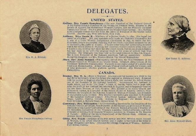 American Delegates to International Congress of Women