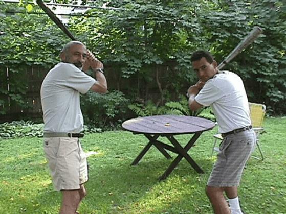 Eugene Kramer and David Kramer 1998 [Photo: Leslie Kramer]