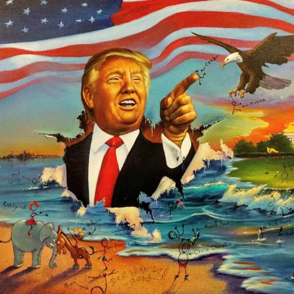 Donald-Trumps-Grand-Entrance-by-Jim-Warren