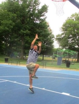 9:07 am, 6/2/18. The very first shot at the Tony Boler Courts. [Photo: Mike of Jay Wolfe Productions
