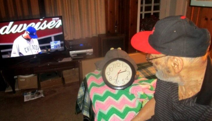 Eugene stayed up past 2:30 a.m. to watch the October 10/11th, 2016 Cubs vs. Giants