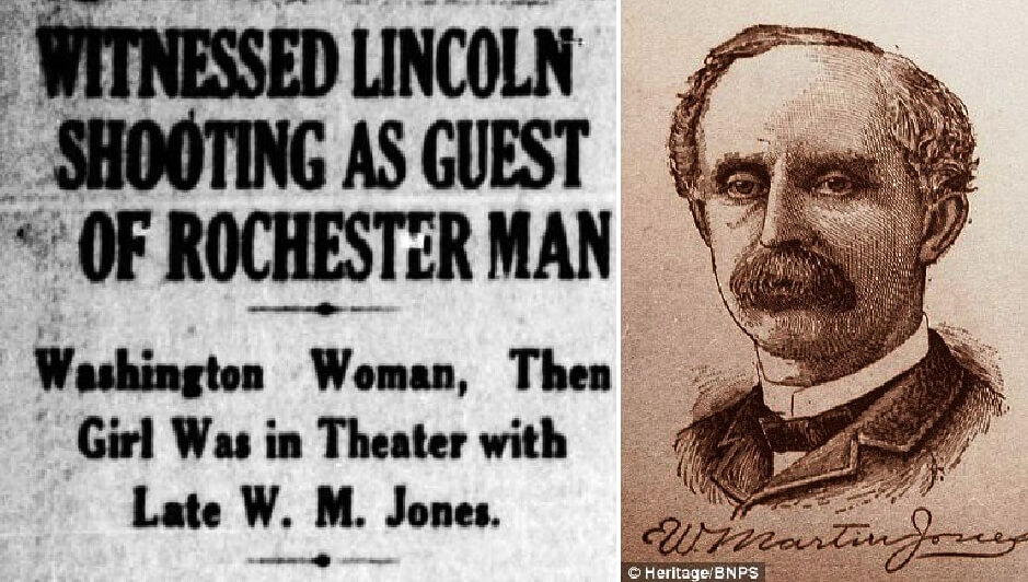 Rochestarian was twenty feet from Lincoln when he was assassinated