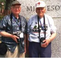 Photo of Tom during his Honor Flight to Washington, D.C. with his son Vince. Honor Flight® Rochester Newsletter, Volume 4, Issue December 2014