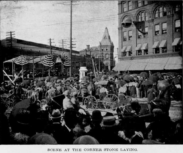 Corner of Central Avenue and St. Paul's Boulevard, July 20, 1898. From An Authentic History of the Douglass Monument (1903),