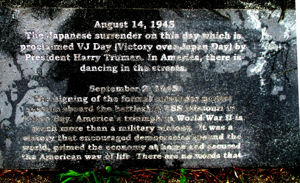 75 years ago when Imperial Japan surrendered and the Timeline at the Vietnam Veteran's Memorial in Highland Park