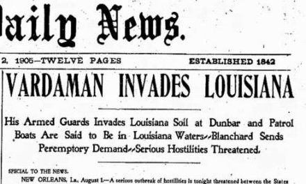 When Mississippi invaded Louisiana: The Quarantine War of 1905