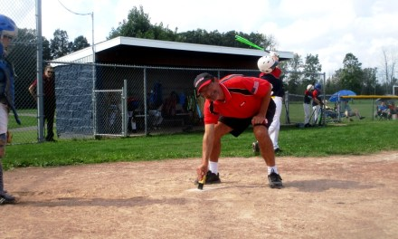 Catch the Sluggers at Meridian Centre Park in Brighton; Talker pitches in.