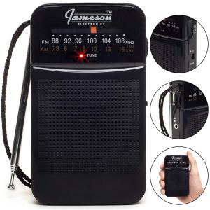 AM // FM Portable Pocket Radio with Best Reception