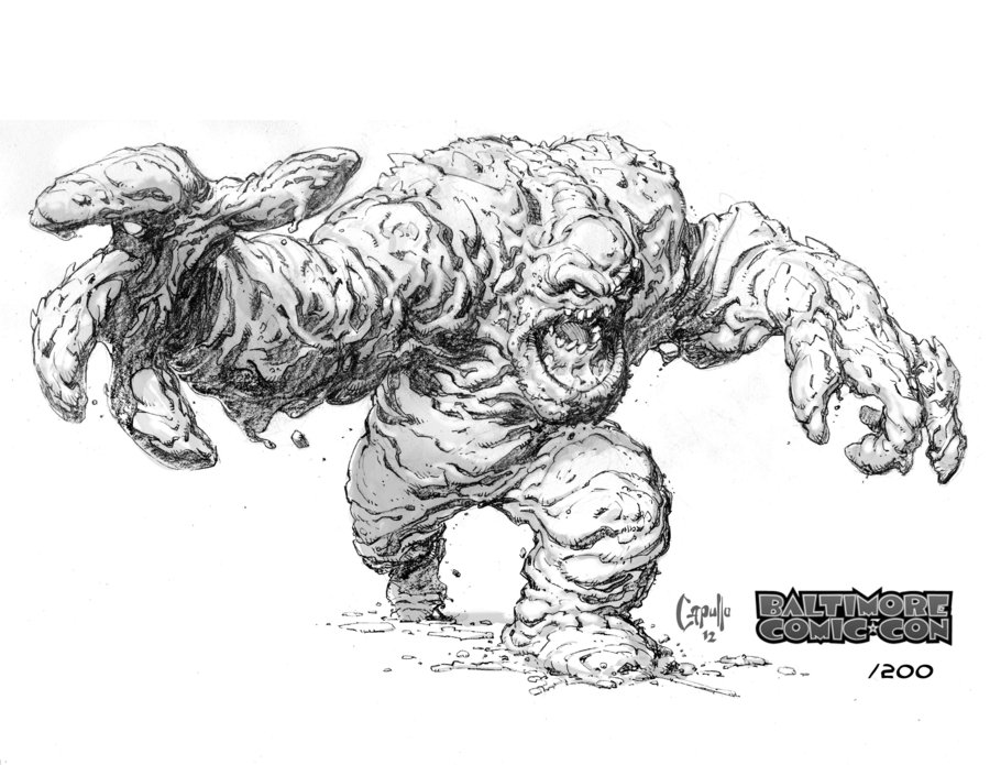 Clayface by Greg Capullo