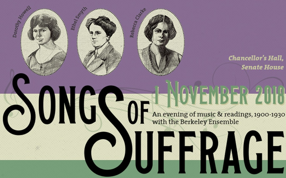 Songs of suffrage: a feast for the eyes and ears