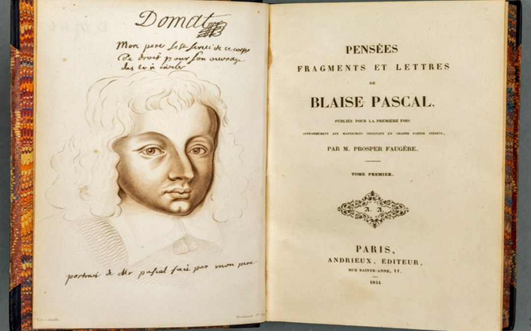 Pascal's jottings in defence of Christianity turns 350