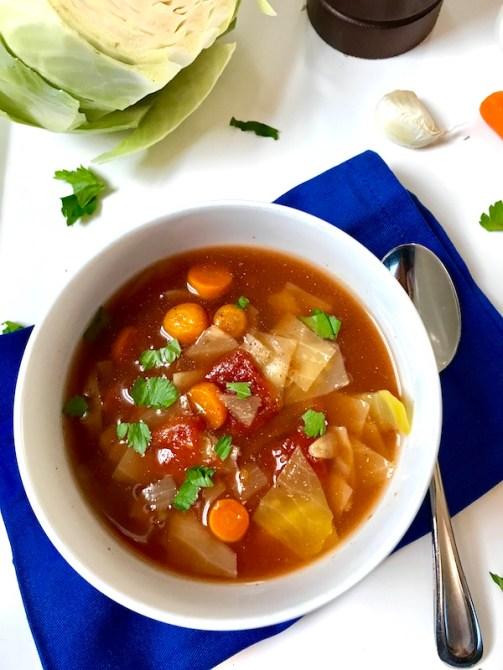 Detox Cabbage Soup - Table vert Best