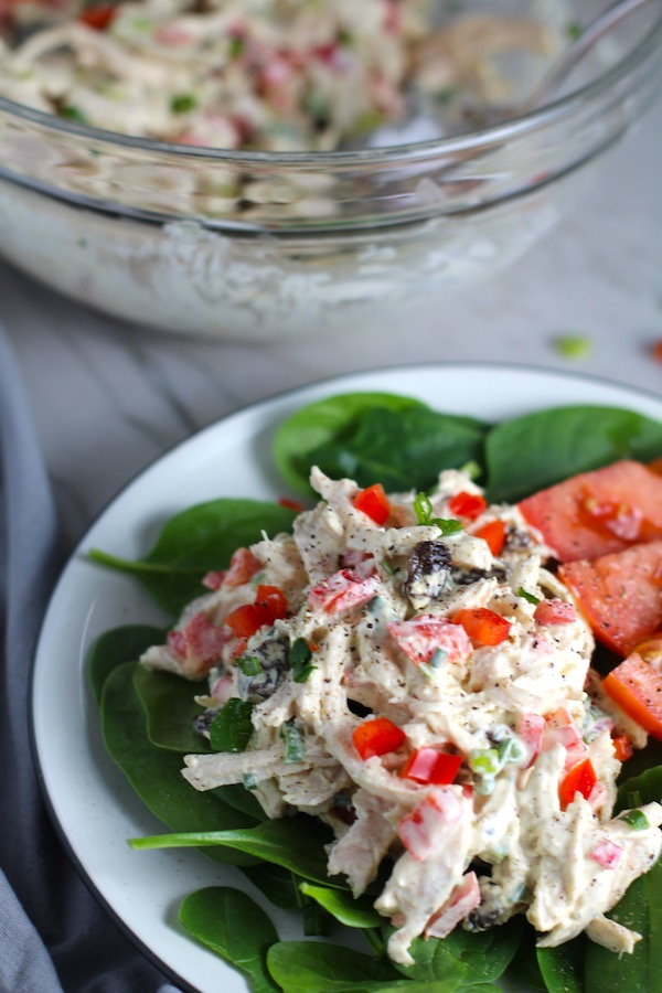 curry chicken salad front