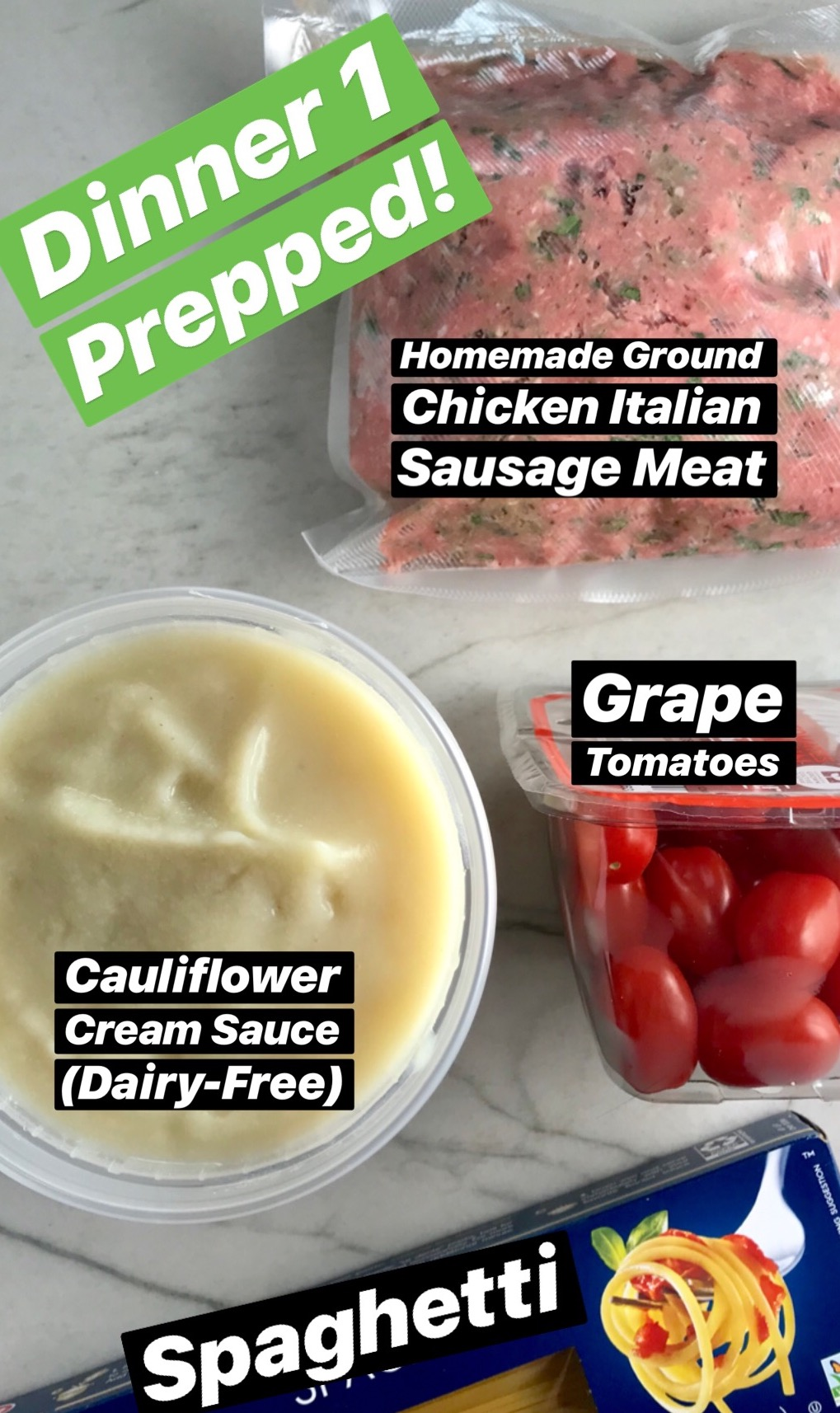 Italian Sausage Cauli-Cream Pasta Prepped Dinner Kit