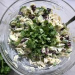 Cilantro added to Greek Orzo Salad with Kalamata Olives, Cucumbers, and Feta Cheese. It's mixed with a creamy lemon dressing that's bright and light!