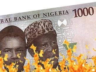 Burning N1000 note