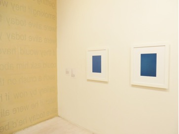 """Fierce Pussy, """"For the Record"""", 2013 /Donald Moffett, """"Blue New York"""", 1997"""