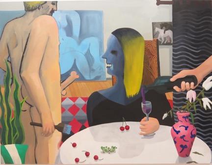 "GaHee Park ""Studio Visit"" 2015 Oil on canvas, 65 x 85"""