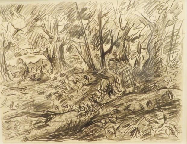 "Abysmal Landscape Series No.2 graphite on paper 22""x30,"" 2016"