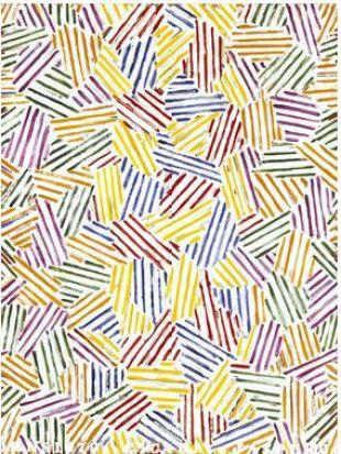 "Jasper Johns, ""Cicada"" (1979) Oil on canvas, 48"" × 36"""