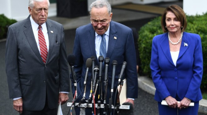 Image result for Dem meets with Trump closed door today