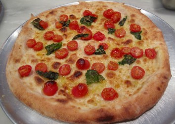 from the oven with cherry tomatoes