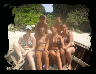 Denise, Rachel, Hayley, Becky, Me and Colette, Thailand, 2008