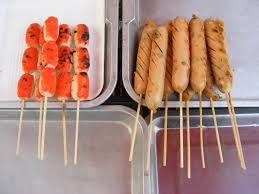 Chicken and Prawn on sticks