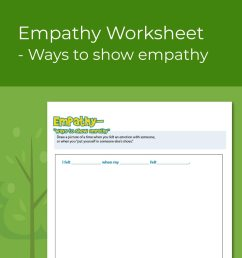 Empathy Worksheet- Ways to Show Empathy [ 1000 x 1000 Pixel ]