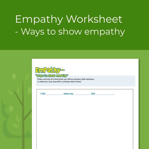 small resolution of Empathy Worksheet- Ways to Show Empathy