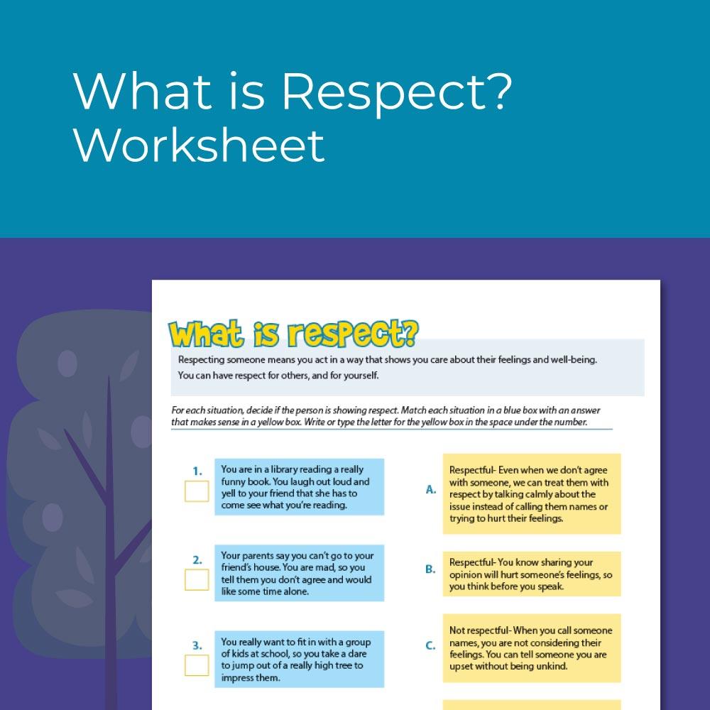 medium resolution of Character Education Worksheets