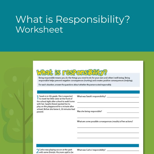 small resolution of Character Education Worksheets