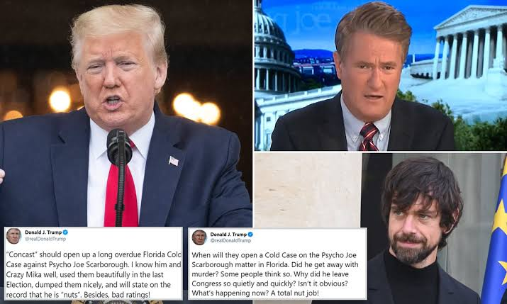 Twitter apologizes for Trumps tweets about Joe Scarborough, says they hope to address it shortly – Talk of Naija