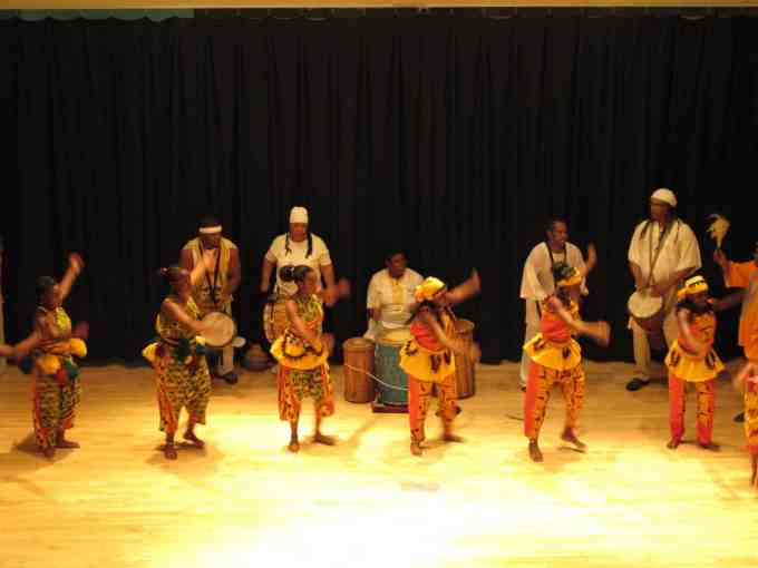 African Dance and Drum Performance at Library