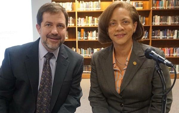 Schools Superintendent Dr. Brian Osborne and New Rochelle Board of Education President Lianne Merchant