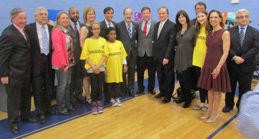 Congressman Eliot Engel lent his support to local officials supporting the New Rochelle YMCA