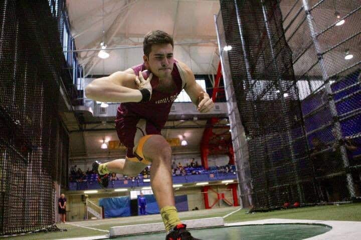 Andrew Cannistraci is wrapping up a sterling career as a thrower on the Iona Prep track & field team. He'll head to Northeastern on an athletic scholarship in the fall.