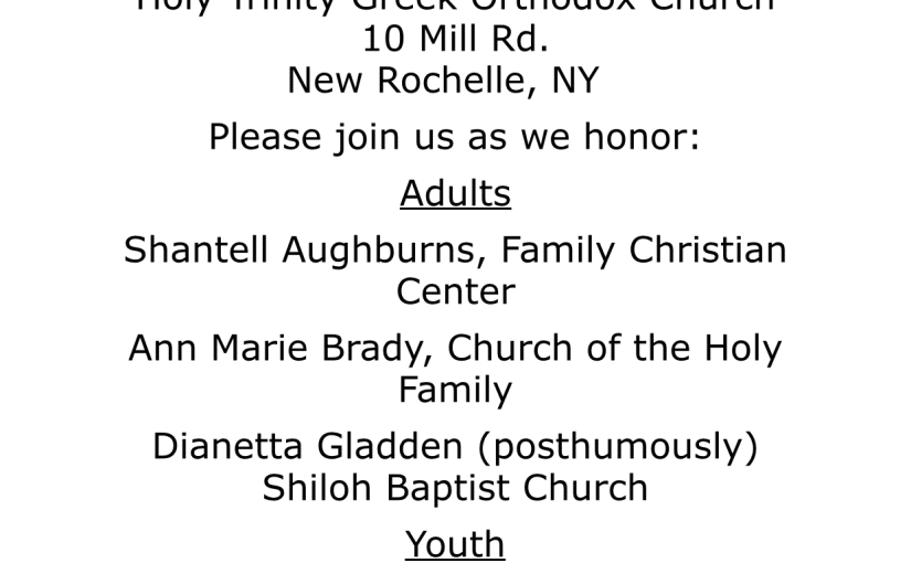 Interfaith Awards Event in New Rochelle