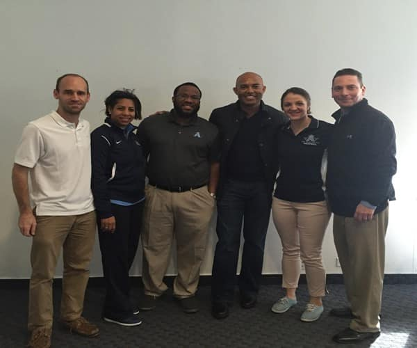 CNR Coaching Staff and Mariano Rivera (middle right)