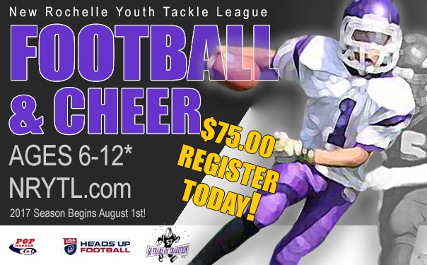 2017 New Rochelle Youth Tackle League Online Registration Is Open and FREE*