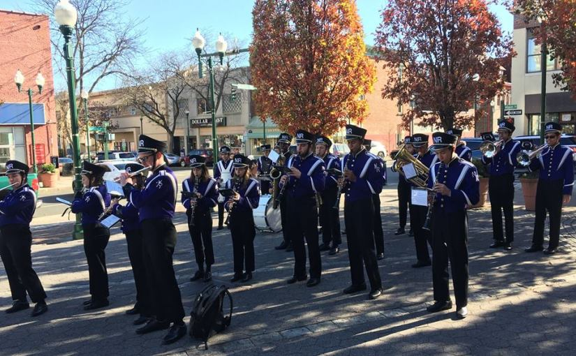 New Rochelle High School Symphonic Band Joined in the Veterans Day Ceremony