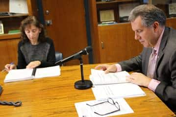 New Rochelle City Manager Charles Strome III presents the 2018 Proposed Budget with Finance Commissioner Tracy Yogman