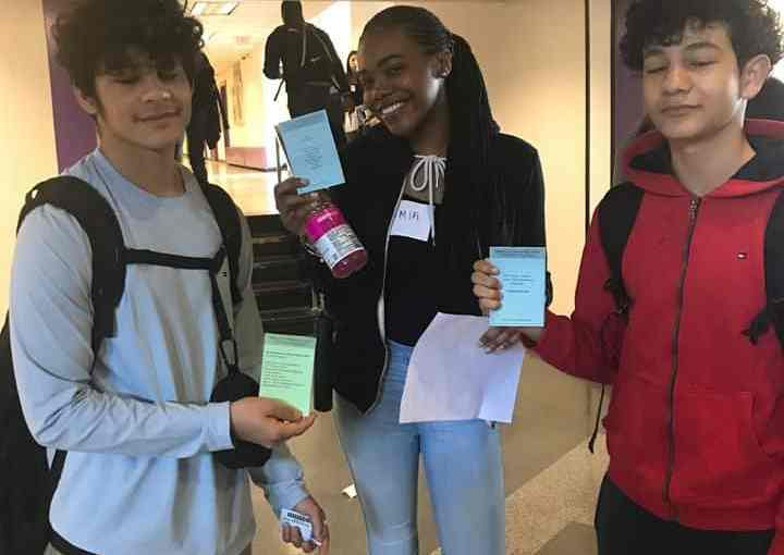 English Teachers at New Rochelle High School made sure Students were Well-versed in Great Writing on for Poem in Your Pocket Day