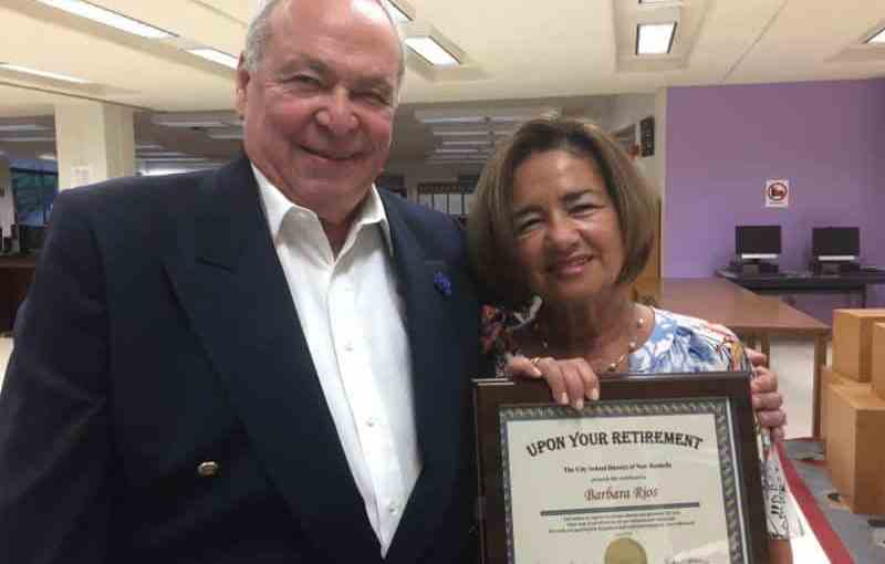 Barbara Fraioli Rios, right, is retiring after serving the District's students for 44 years.