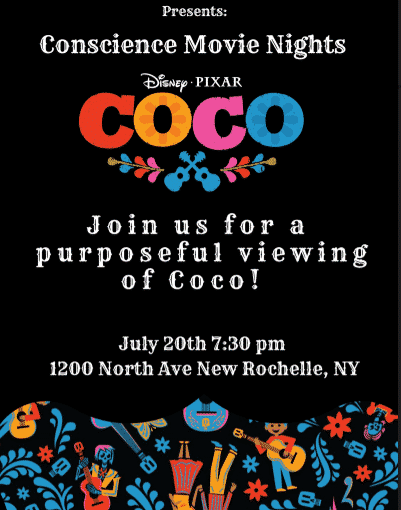New Rochelle United Methodist Church presents Conscience Movie Nights