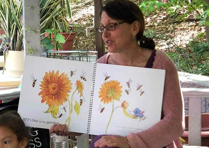 Anne Mattola, a children's book author and gardening educator from the The New York Botanical Garden visited recently to read to the students