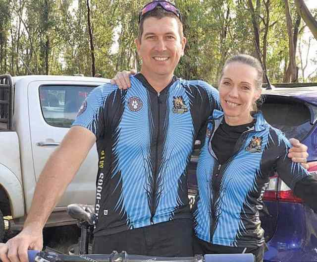 THE WINNERS: Beating the competition in the 42km cycle event at the Paws Race for Survival mountain bike race, held at Kenton-on-Sea over the weekend, were James and Caron Williams. Picture: ROB KNOWLES
